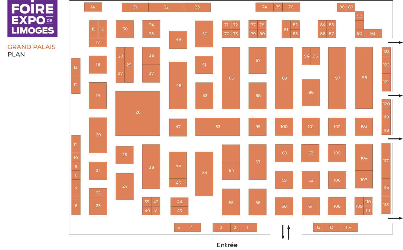 Plan du Grand Palais Foire de Limoges